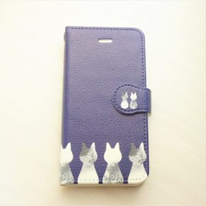 sasabo-mrcオリジナルデザインの手帳型スマホケースです。